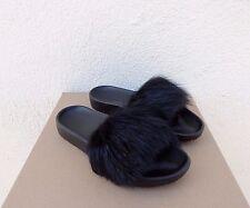 UGG ROYALE BLACK TOSCANA FLUFFIE SLIDE SLIPPERS, WOMENS US 6/ EUR 37 ~NIB