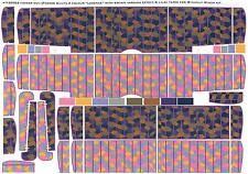 Aviattic Decals 1/32 FOKKER D-VII 4-COLOR LOZENGE w/ LILAC TAPES BROWN VARNISH
