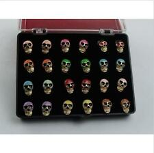 24pc Women Men Diverse 18K Gold Plated Skull Stud Fashion Earrings For Wholesale