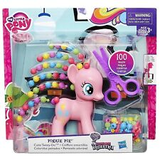 "MY LITTLE PONY PINKIE PIE CUTIE TWISTY-DO DOLL FIGURE MOSC 100 BEADS 5"" 2015 HTF"