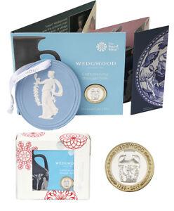 2019 Coin + Authentic Wedgwood Jasperware Plaque Set UK Brilliant Unc Booklet