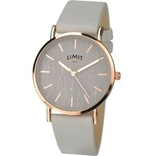 Ladies Watch Rose Gold Trendy Grey Dial/strap Quality 2 Years Limit