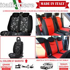SET COPRISEDILI Adattabili FIAT DOBLO' Fodera FODERE FODERINE COMPLETE Grigio 33