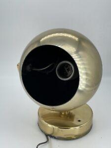 Vintage Mid Century Modern MCM Eyeball Lamp Brass Uplight Ball Orb