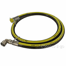 "UNIVERSAL Oven Cooker Gas Supply Pipe Hose Bayonet Angle Micropoint 5ft 1/2"" LPG"