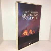 Grand livre LES PLUS BELLES MONTAGNES DU MONDE éd° Glénat 1990 TBE - CA30A
