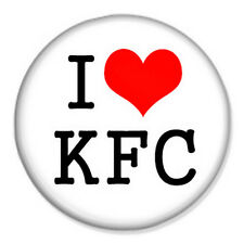 "I Love KFC 25mm 1"" Pin Badge Button Kentucky Fried Chicken Fast Food"