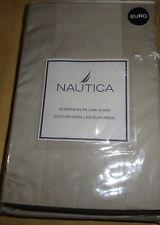 Nautica Stanhope Tan Euro Pillow Sham 26 X 26 New
