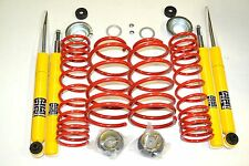 VW POLO MK1 MK2 MK3 86 86C LOWERING SPRINGS SHOCK SUSPENSION KIT 80-60 BEARINGS