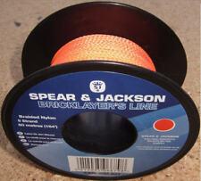 Spear & Jackson 50m/164ft Bricklayers HI-VIZ Braided Nylon Mason Brick Line