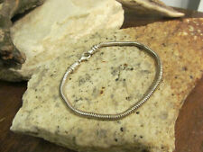 "Vintage 925 Sterling Silver Snake chain Bracelet 8.9g 7 3/4"" Tested"