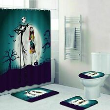 The Nightmare Before Christmas Bathroom RugsMat Shower Curtain Toilet Lid Cover