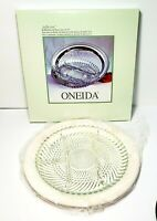 Oneida Jefferson Silverplate Relish Dish With Glass Liner Dining Serving