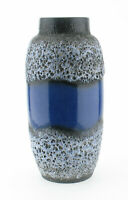 Scheurich 553 38 Keramik Bodenvase Fat Lava blau grau wgp ceramic space age