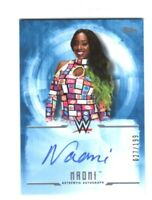 WWE Naomi 2017 Topps Undisputed Blue On Card Autograph SN 27 of 199
