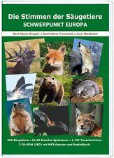 Die Stimmen der Säugetiere, 2 CD-ROM mit MP3 & Begleitbuch (305 Arten, 12 Std.)