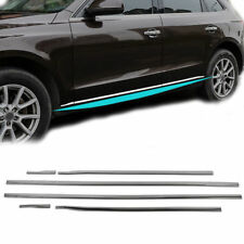 For Audi Q5 2009-2017 Stainless Steel Side Door Body Molding Cover Trim 6PCS
