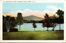 Mt. Monadnock from Cummings Pond, Keene New Hampshire Vintage Postcard Y01