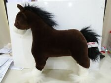 """Gund Clyde Clydesdale Horse Plush Stuffed Animal Toy 15"""" Long 15"""" Tall"""