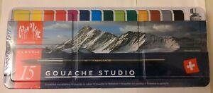 Caran D'Ache Classic Gouache Paint - 15 Set - New & Sealed