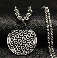 Halskette collier Edelstahl Blume des Lebens Ornament harmonie Seele Einigkeit