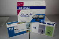 HP Laserjet Cartridges x 3, 95A,03A and C7115X, New