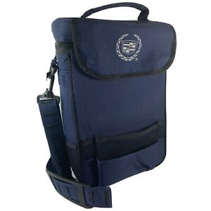 Picnic Time Insulated Cooler Lunch Box With Divider Navy Blue Cadillac Logo