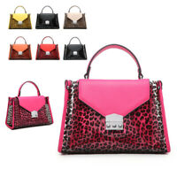 Ladies Transparent Leopard Handbag Tote Beach Bag Clear Jelly Shoulder Bag M6183