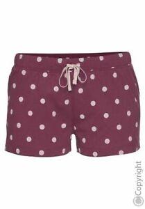 Vivance DREAMS Schlafshorts Pyjama- Shorts Bordeaux Dots Neu 44/46