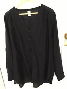 17 sundays black Silk Cotton Top Size 26 AU