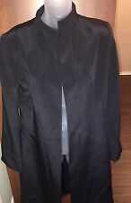 B Louise Long Black Trench Jacket - Size 6