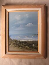 Vintage Mid-Century Ocean Oil Painting Japanese Artist Frank Sakamoto VGC