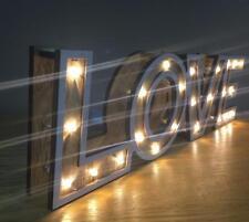 Love in legno Light Up Stile Vintage MANTEL PLACCA GTG046-HS