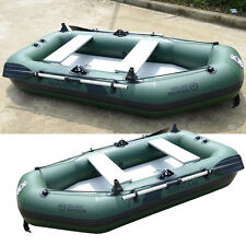 Inflatable PVC Fishing Boat Kayak Canoe With Wooden Slats Bottom Drifting Sports