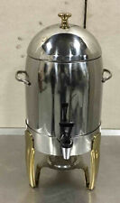 Chafer Coffee Dispenser Server Stainless Steel Gold Bullet Rocket Urn Sterno