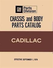 1971 1972 1973 1974 1975 Cadillac Parts Numbers Book Interchange Drawings Guide