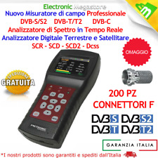 MISURATORE DI CAMPO COMBO DIGITALE TERRESTRE E SATELLITARE FUNZIONE SCR SCD SCD2