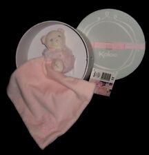 Doudou Ours Ourson Calin rose mouchoir carré plat Kaloo Perle 33 cm K962160