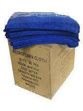 "96 Microfiber Professional 16""x24"" Detailing Towels Auto Polishing Cloths (Blue)"