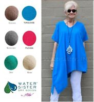 WATERSISTER Cotton Gauze ALOHA Tunic Angled Top 1(S/M) 2(L/XL) 3(1X) DISC COLORS