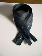 A large Zip closed ended Navy Blue  65cm large plastic teeth