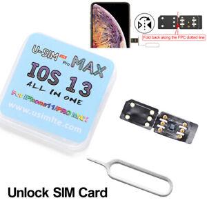 U-SIM LTE Unlock Sim Turbo Card For iPhone 11 Pro Max XS X 8 7 6s iOS 13 US