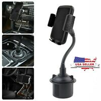 Universal Adjustable Gooseneck Car Mount Cup Holder Cradle for Cell Phone iPhone