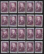 K83* Lot Timbres Oblitérés n°1558 1968 (ALAIN RENE LESAGE) x20 pour étude