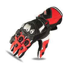 Racing Motorbike Gloves Biker Pro Motorcycle Red TPU Knuckle Kevlar 1684 2XL