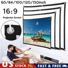16:9 Foldable Projector Screen HD Outdoor Home Cinema Theater 3D Movie Portable