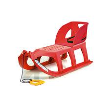 Schlitten Kinderschlitten Lehne Rückenlehne Set rot