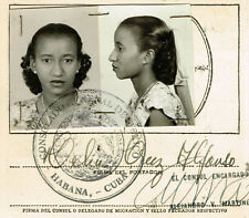 CELIA CRUZ ALFONSO AUTOGRAPH SIGNED DOCUMENT Jul,1948 (Mexico Migration Sheet)