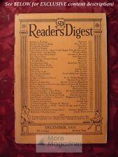 Readers Digest December 1931 Robert Ripley Stuart Chase Albert Jay Nock HG Wells