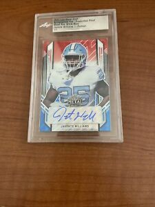 2021 Leaf Metal Draft Javonte Williams Autograph Proof WAVE Red White Blue 1/1